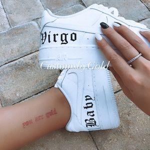 Zodiac VIRGO BABY Custom Air Force 1 Nike's